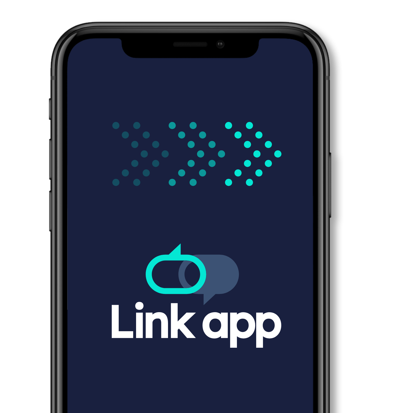 The Link App logo on mobile