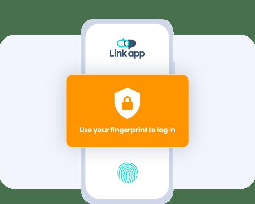 Secure client access portal - fingerprint access